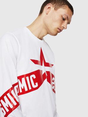 T-JUST-LS-STAR, Blanc - T-Shirts