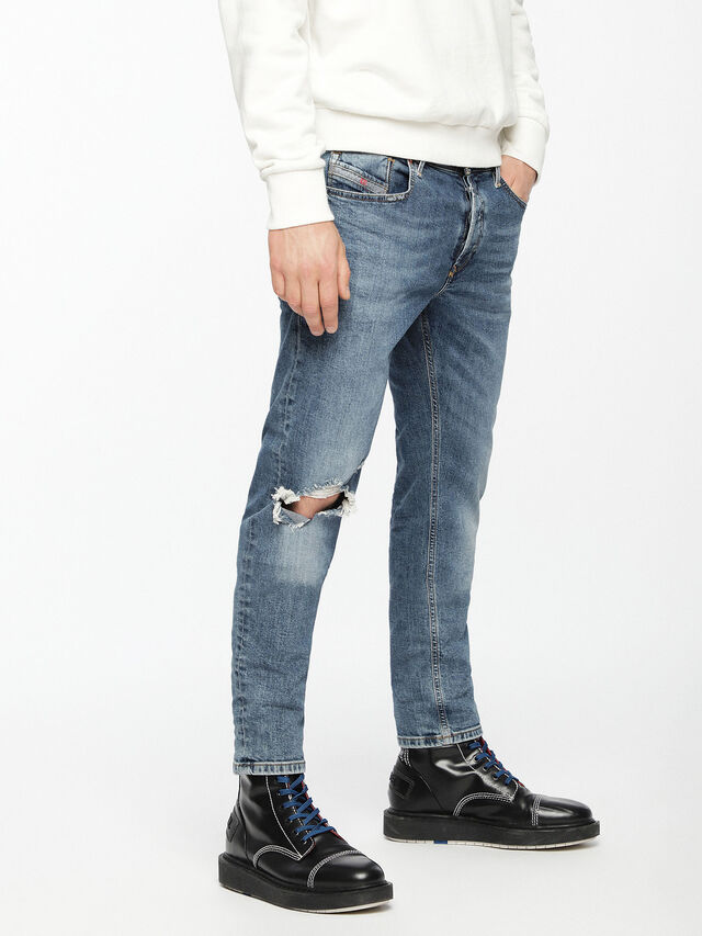 Diesel - Sleenker 069AI, Bleu moyen - Jeans - Image 3