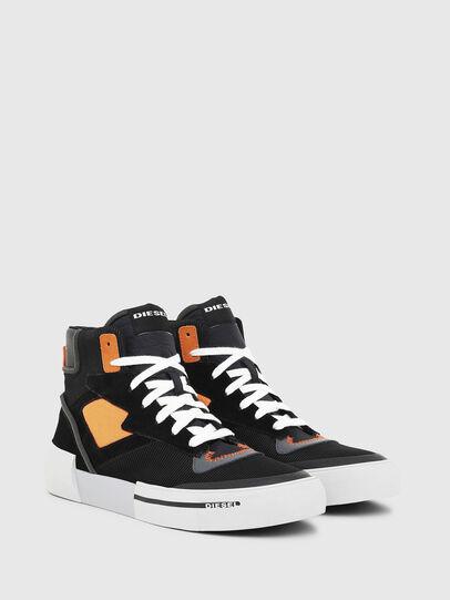 Diesel - S-DESE MS, Noir/Orange - Baskets - Image 2