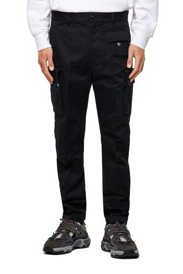 Pantalon cargo en sergé de coton