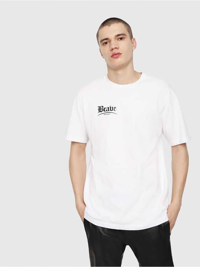 Diesel - T-JUST-Y14, Blanc/Noir - T-Shirts - Image 1