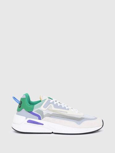 Sneakers non doublées en maille et cuir suédé