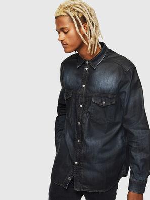 D-BANDY-B, Bleu Foncé - Chemises en Denim