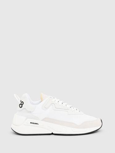 Sneakers monochromes en nylon et cuir suédé
