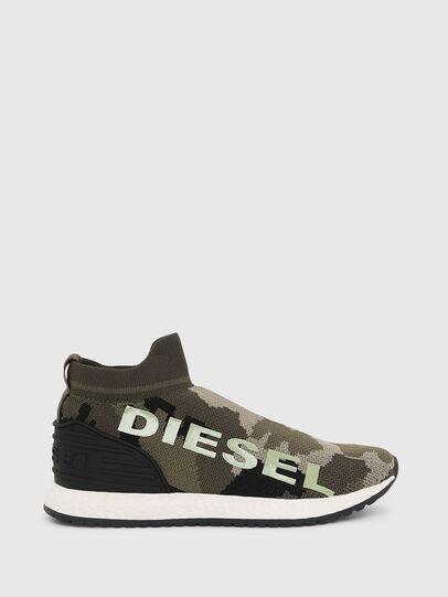 Diesel - SLIP ON 03 LOW SOCK, Vert Camouflage - Footwear - Image 1