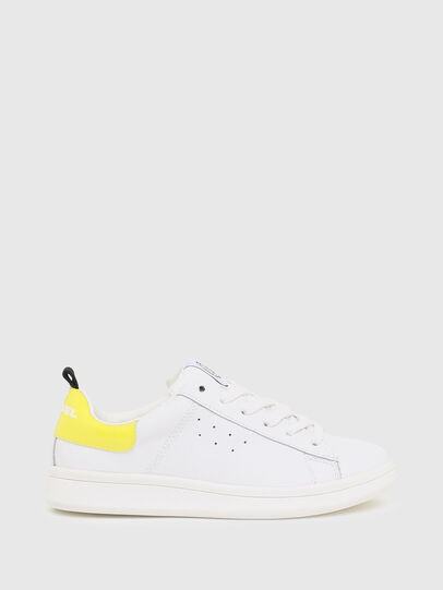 Diesel - SN LOW LACE 11 FULL, Blanc/Jaune - Footwear - Image 1