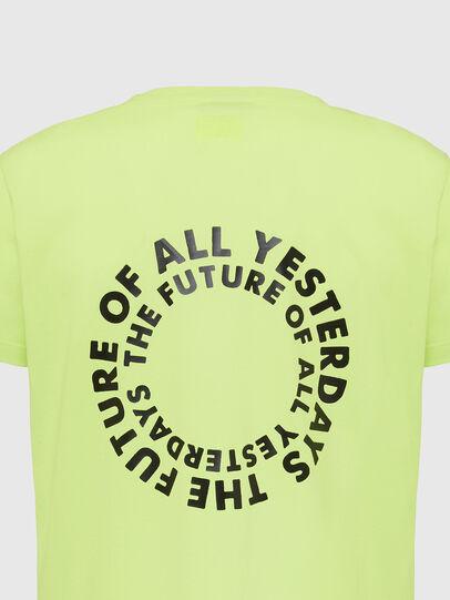 Diesel - T-DIEGOS-X46, Vert Fluo - T-Shirts - Image 4