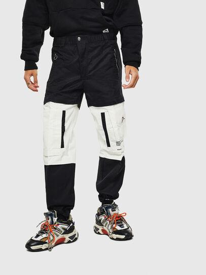 Diesel - P-MELTY, Noir/Blanc - Pantalons - Image 1