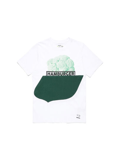 Diesel - D-SHIELD-GREEN, Blanc - T-Shirts - Image 1