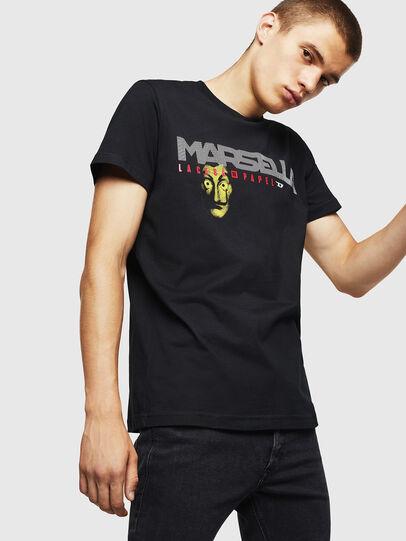 Diesel - LCP-T-DIEGO-MARSELLA, Noir - T-Shirts - Image 1