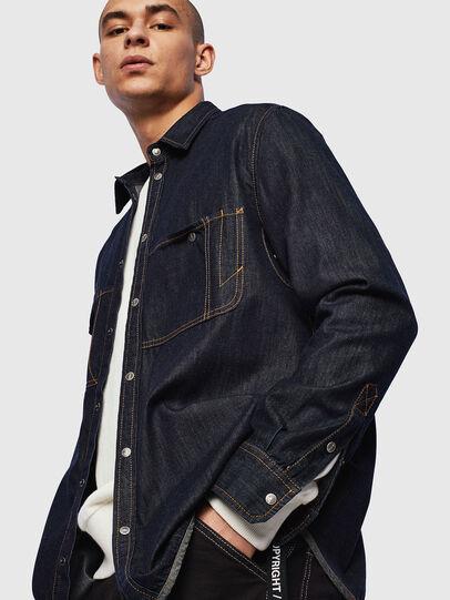 Diesel - D-MILLY, Bleu Foncé - Chemises en Denim - Image 4