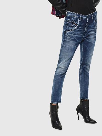 Diesel - Fayza JoggJeans 0096M, Bleu Foncé - Jeans - Image 1