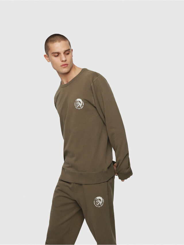 Diesel - UMLT-WILLY, Vert Militaire - Pull Cotton - Image 1