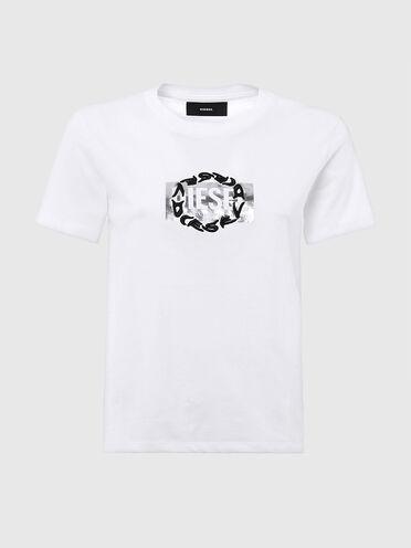 T-shirt avec double logo imprimé