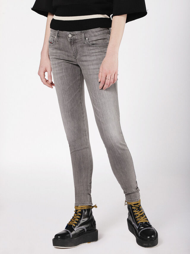 Diesel - Gracey 084VS, Gris Clair - Jeans - Image 3