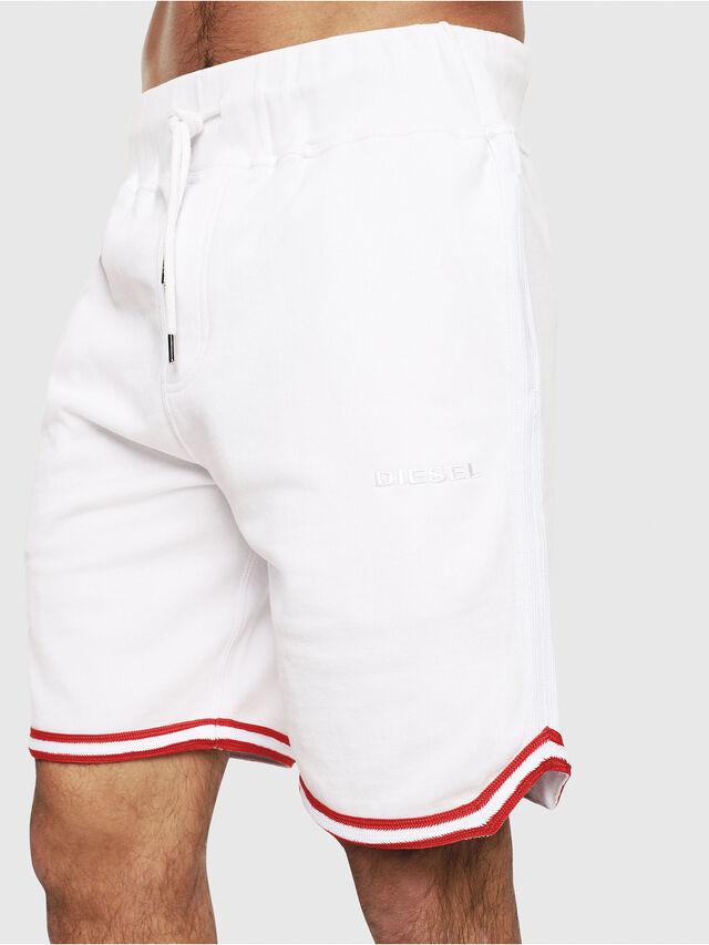 Diesel - UMLB-PAN, Blanc/Rouge - Pantalons - Image 3