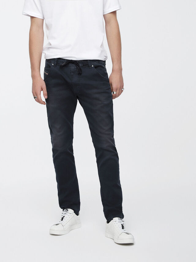 Diesel - Krooley JoggJeans 0670M, Bleu Foncé - Jeans - Image 1