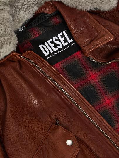 Diesel - L-STEPHEN, Marron - Vestes de cuir - Image 3
