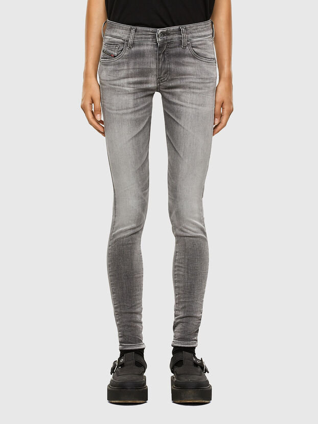 Slandy Low 009FD, Gris Clair - Jeans