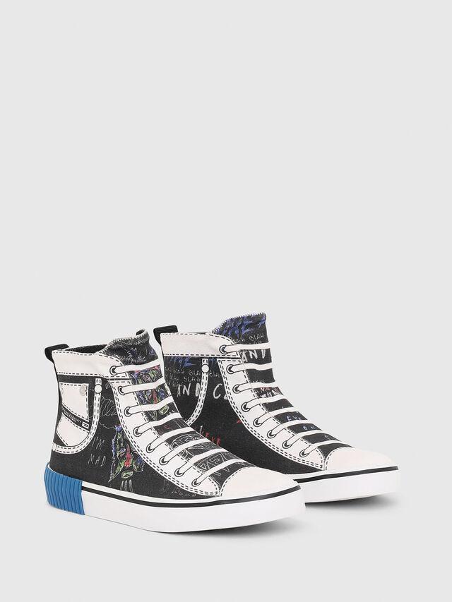 Diesel - SN MID 08 GRAPHIC CH, Noir/Blanc - Footwear - Image 2