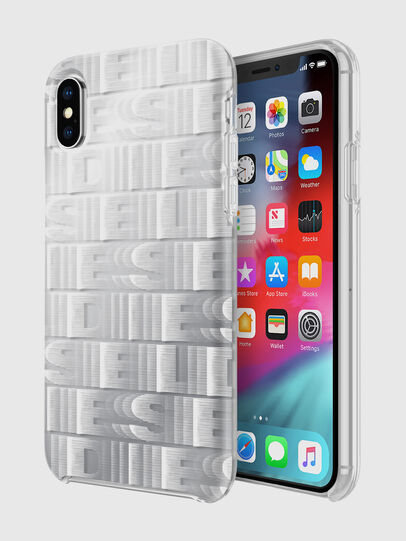 Diesel - DIESEL PRINTED CO-MOLD CASE FOR IPHONE XS & IPHONE X, Blanc - Coques - Image 1