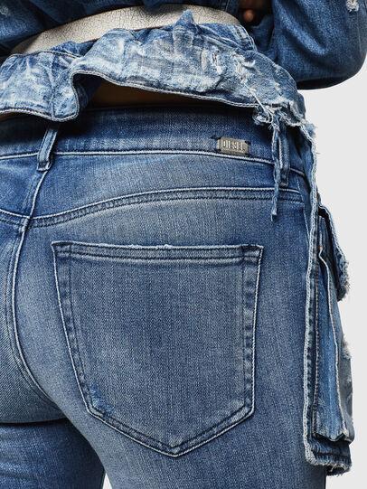 Diesel - Slandy Zip 083AP, Bleu moyen - Jeans - Image 3