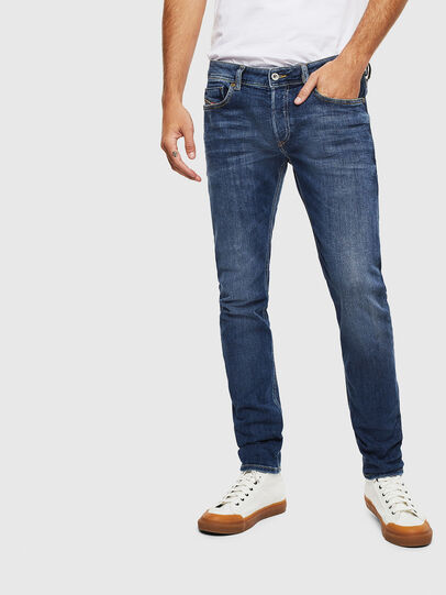 Diesel - Sleenker 0095F, Bleu Foncé - Jeans - Image 1