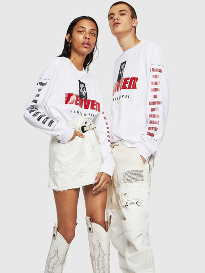 Diesel - LCP-T-JUST-LS-DENVER, Blanc - T-Shirts - Image 6