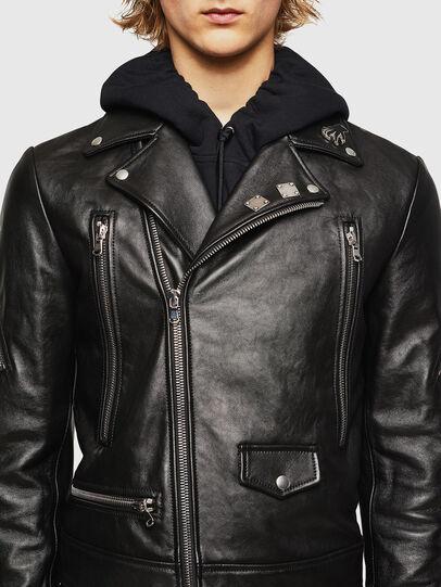 Diesel - L-PERF, Noir - Vestes de cuir - Image 4