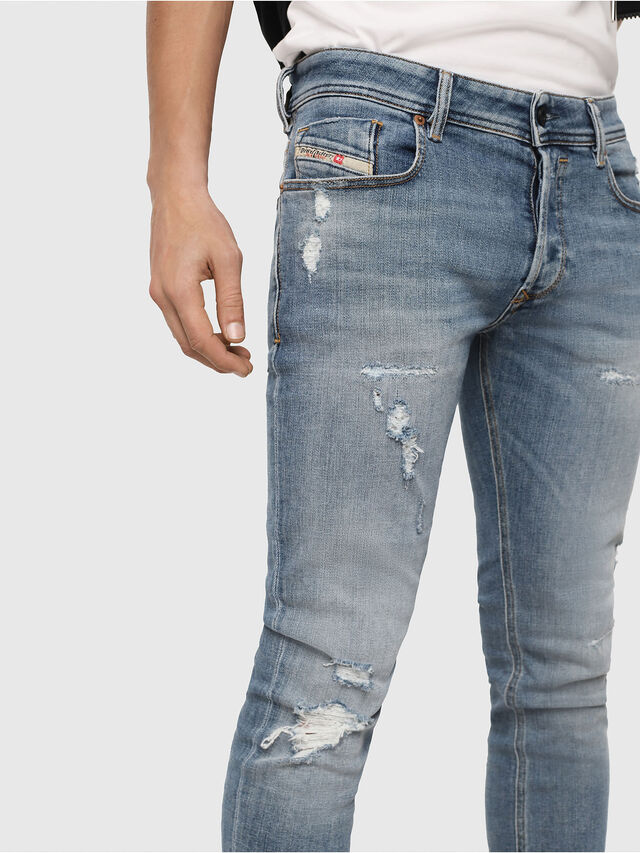 Diesel - Sleenker 086AT, Bleu Clair - Jeans - Image 3