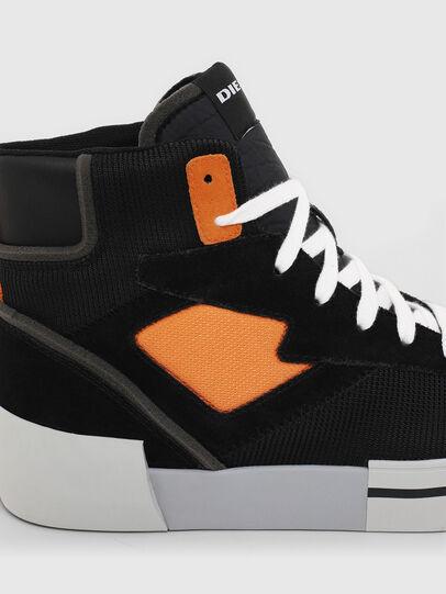 Diesel - S-DESE MS, Noir/Orange - Baskets - Image 5