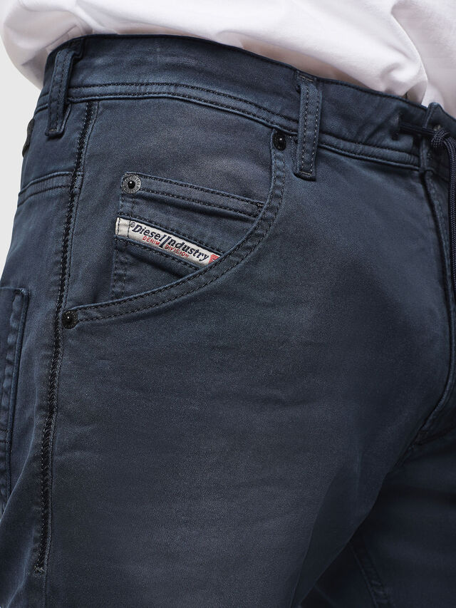 Diesel - Krooley Long JoggJeans 0670M, Bleu Foncé - Jeans - Image 3