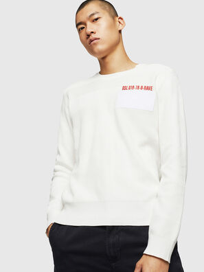 K-STLE, Blanc - Pull Maille