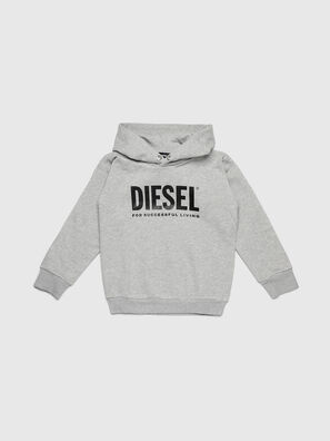 SDIVISION-LOGO OVER, Gris - Pull Cotton