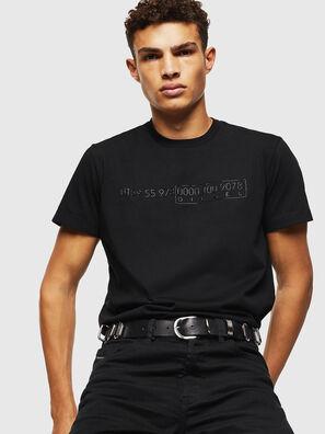 T-DIEGO-SLITS-J6, Noir - T-Shirts
