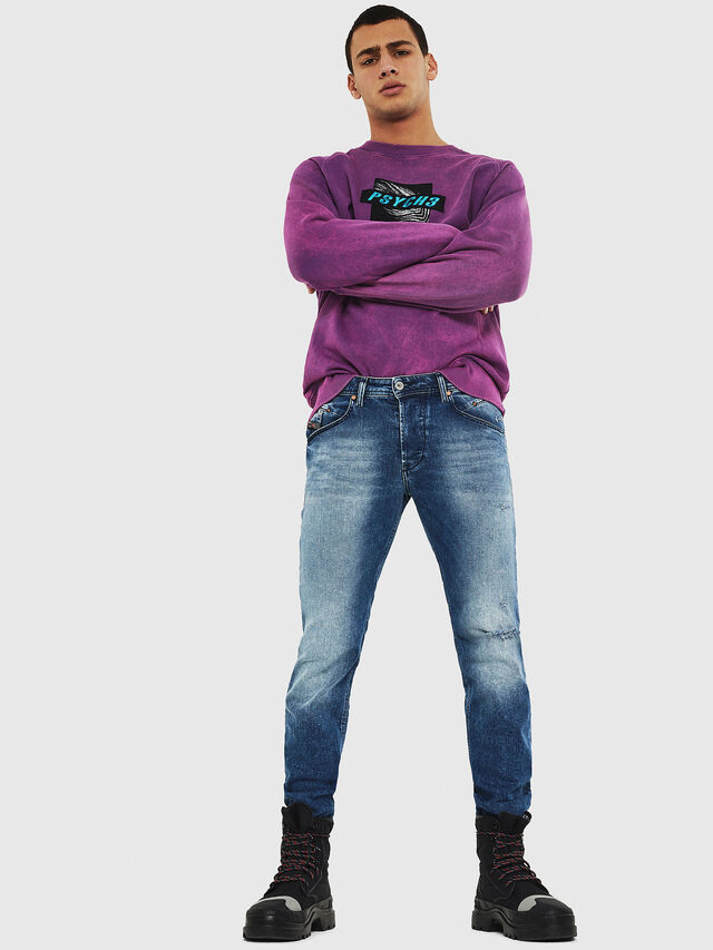 Diesel - Belther 081AQ, Bleu moyen - Jeans - Image 5
