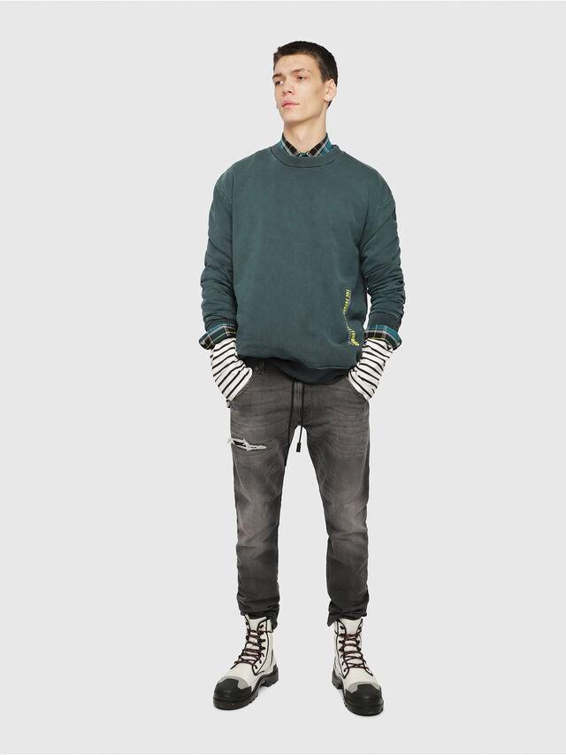 Diesel - Krooley JoggJeans 069EM, Noir/Gris foncé - Jeans - Image 4