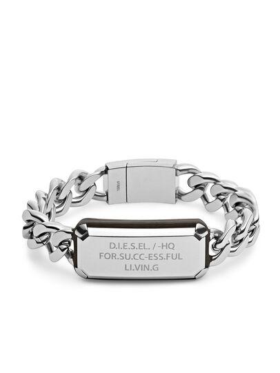 Diesel - BRACELET DX1017, Gris argenté - Bracelets - Image 1
