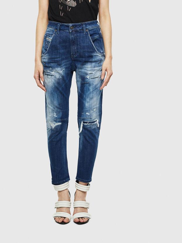 Fayza JoggJeans 0099S, Bleu Foncé - Jeans