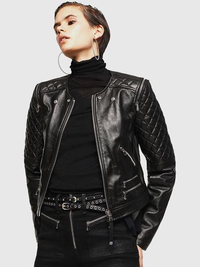 Diesel - LIVIA, Noir - Vestes de cuir - Image 1