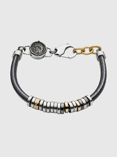 Diesel - DX1185, Gris argenté/Noir - Bracelets - Image 1