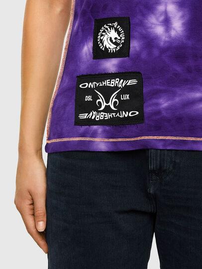 Diesel - T-SUPERY-V10, Blanc/Violet - T-Shirts - Image 4