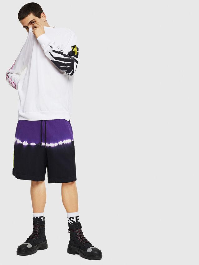Diesel - T-JUST-LS-RIB, Blanc - T-Shirts - Image 6