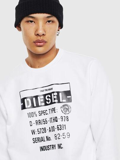 Diesel - S-GIRK-S3, Blanc - Pull Cotton - Image 5