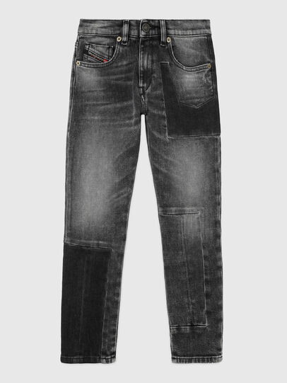 Diesel - D-STRUKT-GO-J, Noir/Gris foncé - Jeans - Image 1