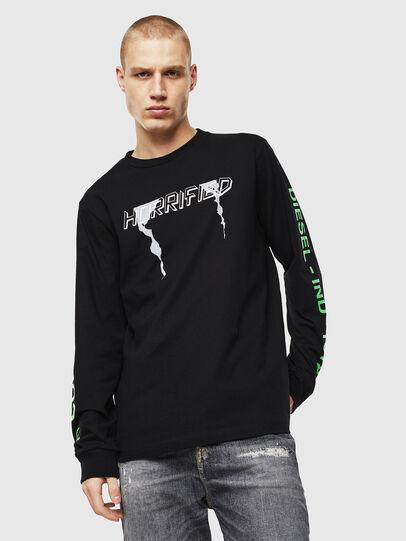 Diesel - T-JUST-LS-VINT, Noir/Blanc - T-Shirts - Image 1