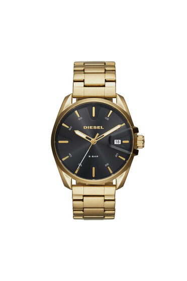 MS9 Chrono montre en acier doré, 44mm