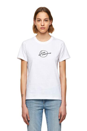 T-shirt avec imprimé logo griffonné
