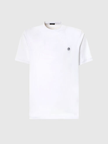 T-Shirt monochrome avec empiècement mohawk