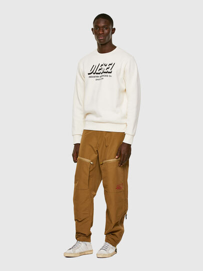 Diesel - S-GIRK-A74, Blanc - Pull Cotton - Image 4